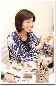 BeingMake主催吉澤恵美、吉沢恵美、文化放送HP プラスF取材メイク中の風景2